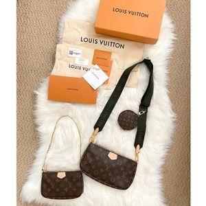 🖤 LOUIS VUITTON Multi Pochette Accessories Khaki